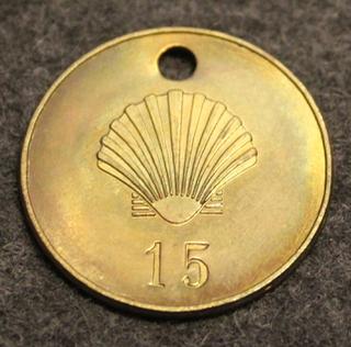 Shell, öljy-yhtiö, 1930-1948 tyypin logo.
