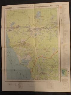 Saksalainen sotilaskartta, P-37-X-West, 1941-. Äänisjärven itäpuoli, Puutoinen