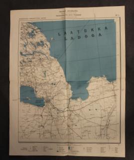 Suomalainen virka-kartta, SF4, Virkakäyttöön, Laatokka, Leningrad.