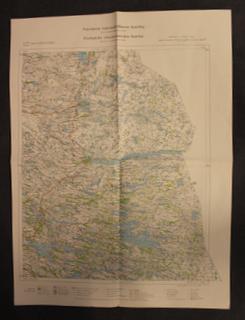 Suomen taloudellinen kartta XIV:11, Paanajärvi, menetetty 1940 rauhassa.