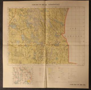 Käsnäselkä 6830/860, Laatokan pohjoispuoli.