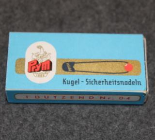 Prym Kugel- Sicherheitsnadeln. 2x12, hakaneuloja. 1970 lukua.