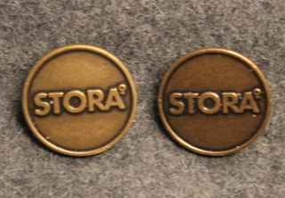 Stora. Swedish paper and pulp industry corporation. 18mm