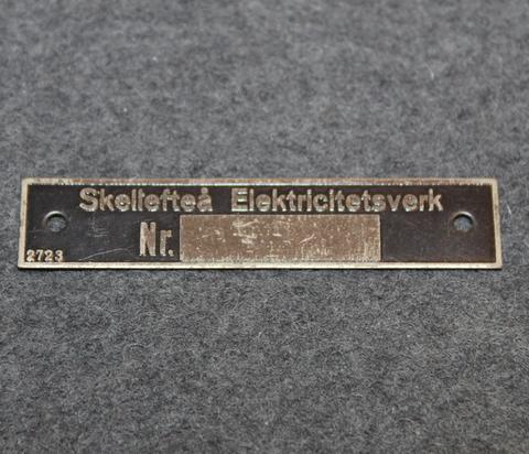 Skellefteå Elektricitetsverk. merkkikilpi