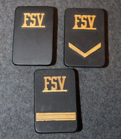 Securitas rank badges, FSV, w/o backplate and nuts