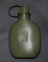 SA kenttäpullo, perinteinen vihreä. Plastex 0,65L