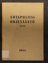 Military Police Regulations, Finnish Army 1944