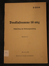 Druckluftramme 50mkg, pile driver manual, German Army 1941