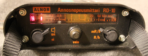 Geiger counter, Alnor RD-10, functional.