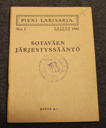 Army code of conduct and regulations, Finnish Army 1944