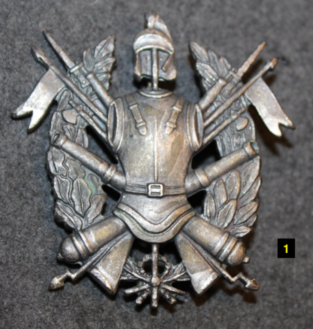 Barettimerkki, Italian armeija