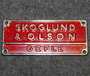 AB Skoglund & Olson, Gefle. Foundry & workshop. Toy label