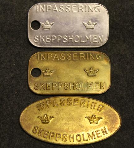 Inpassering Skeppsholmen, sisäänpääsy