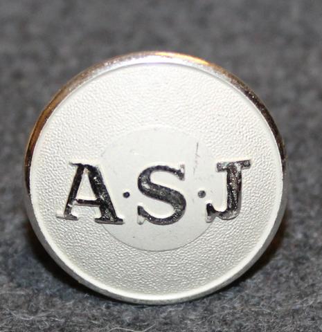 AB Svenska Järnvägsverkstäderna / ASJ, 20mm, lakkinappi