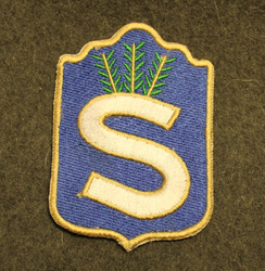 Finnish home guard shoulder sleeve patch: Head Quarters