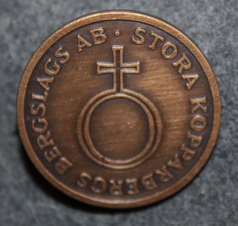 Stora Kopparbergs Bergslags AB, < 1984, 30mm, lakkinappi