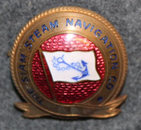 The Siam Steam Navigation Company, Shipping company Cap badge. 1909-1932