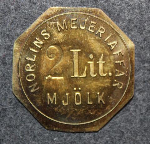 Norlins Mejeriaffär, Mjölk. 2 Lit Mjölk, Maitoraha