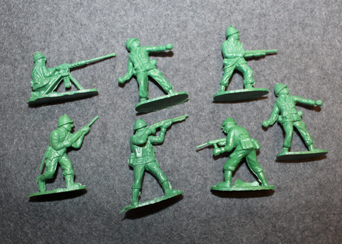 Great Attack, Plastic toy soldiers, 1980´s Tennison Trading Co. Hong Kong