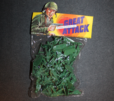 Great Attack, Plastic toy soldiers, 1980´s Tennison Trading Co. Hong Kong, Full bag