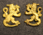 WW2, Finnish army, Officer shoulder lions.