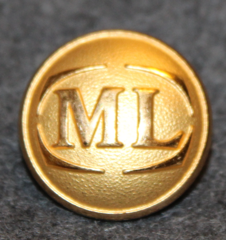 Malmö Lokaltrafik, ML. Public transportation. 20mm gilt