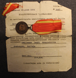 Medal of Liberty 2nd class 1941 + document