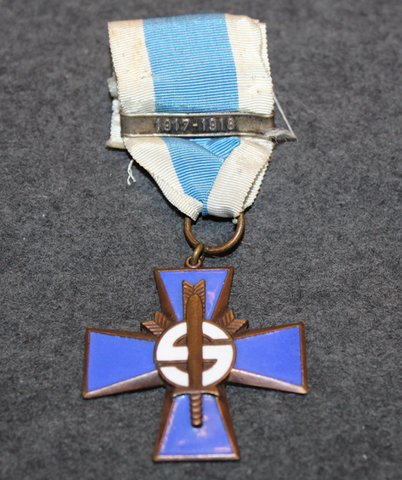Sininen risti 1917-1918 soljella.