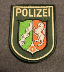 Polizei, Nordrhein-Westfalen. German police. Arm patch.