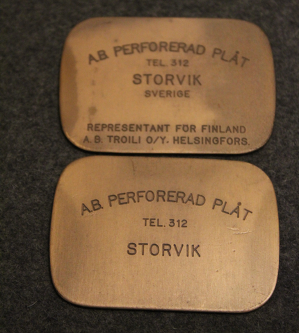 Perforated Plåt Ab, Storvik, 43x61mm