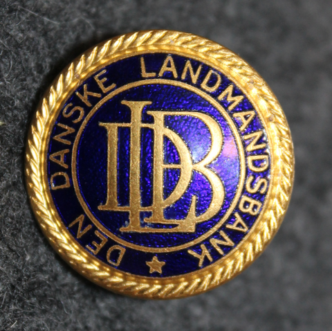 Den Danske Landmandsbank DLB, tanskalainen pankki, 24mm, kokardi