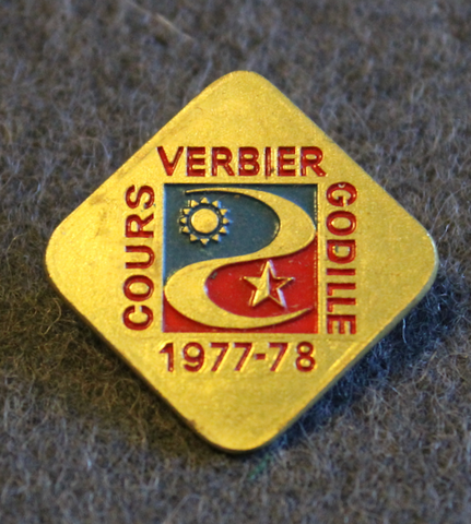Cours Godille, Verbier. Ski proficiency badge.