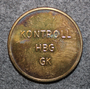 Helsingborgs Gatukontor, Kontroll HBG GK. Parking coin. 25mm