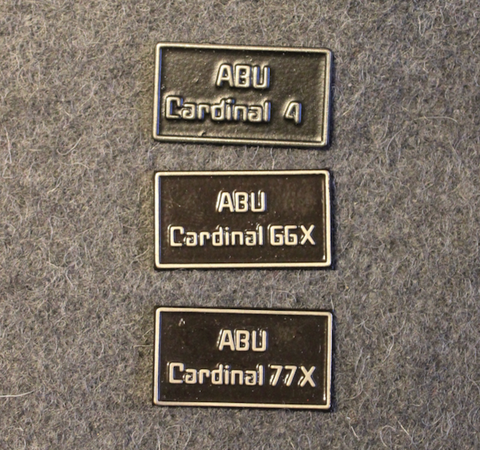 Abu Cardinal 4 / 66x / 77x Side Plate Badge