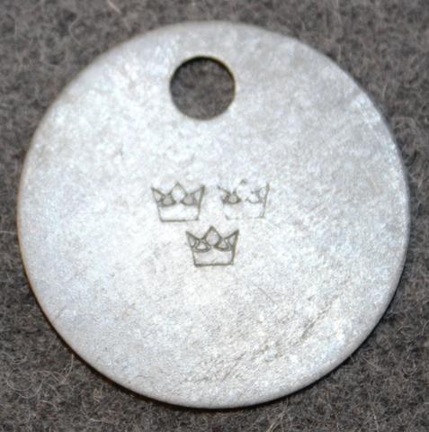 Kungliga Krigsmaterialverket, Ruotsin armeijan materiaalilaitoksen. 3 kruunua leimaus