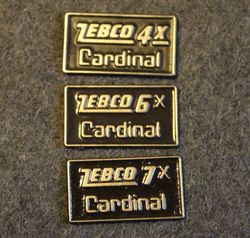 Zebco Cardinal 4x, 6x, 7x, Side Plate Badge