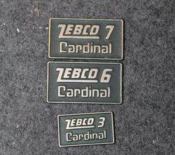 Zebco Cardinal 3, 6, 7, Side Plate Badge