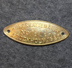Hundskattemärke, Stockholm 1963, dog tax tag