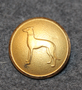 Greyhound. Personalized button. 22mm