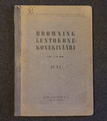 Browning lentokone-konekivääri, 7,7mm, Ilmavoimat 1940