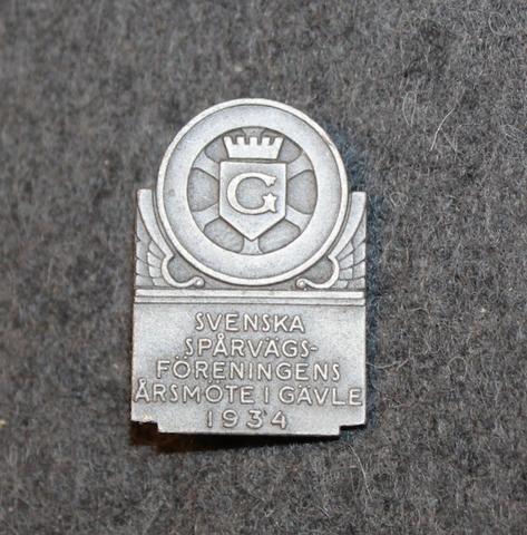 1934 Svenska Spårvägsföreningens Årsmöte i Gävle. Tramway personnel unions annual meeting.