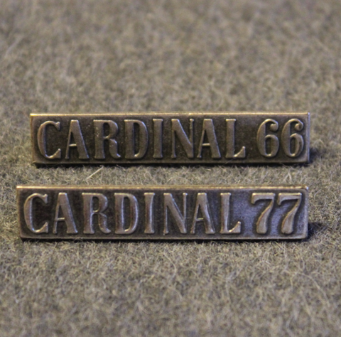 Abu Cardinal 66, 77. Side Plate Badge, long