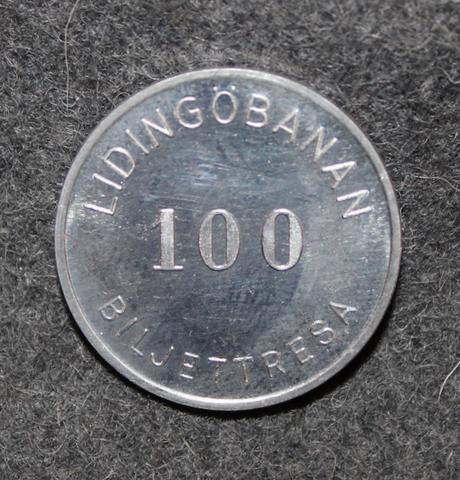 Lidingöbanan 100 biljettresa, SL Ropstengenomgåmgspollett.