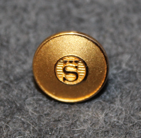 AB Sporrong. Nappien ja mitalien valmistaja. 10mm, kullattu