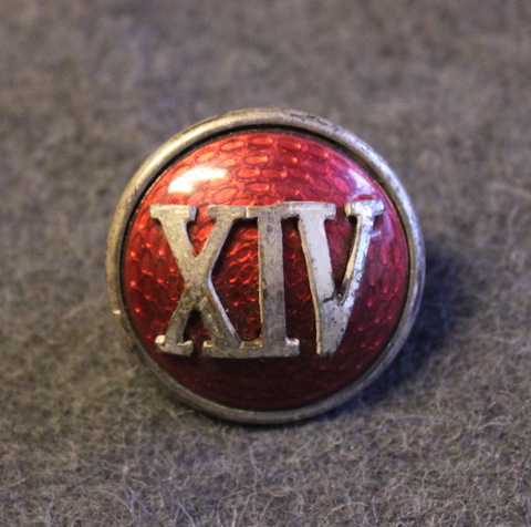Danish Army Regimental M/1915 button / cockade. Seifert LAST IN STOCK