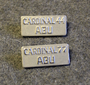 Abu Cardinal 44, 77. Side Plate Badge