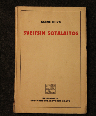 Sveitsin Sotalaitos. Aarne Sihvo, 1922