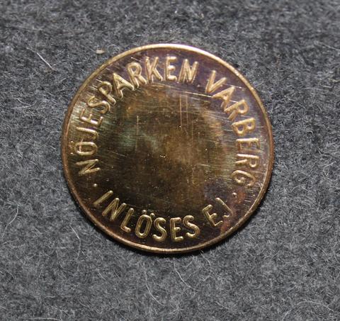 Nöjesparken Varberg, Inlöses Ej. Huvipuiston rahake.  23mm