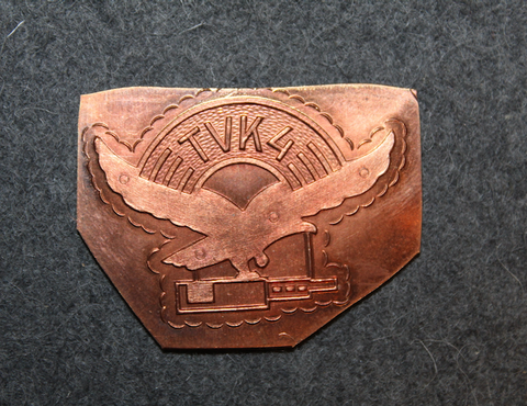 WW2 Finnish Air Force, TVK 4 badge, baseplate.