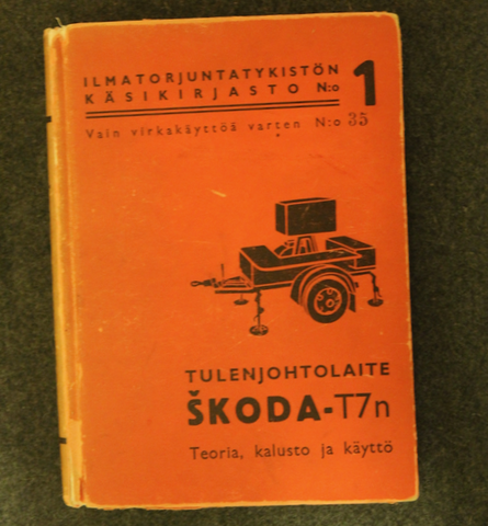 Finnish Air Defence, Skoda T7n fire control computer. 1942
